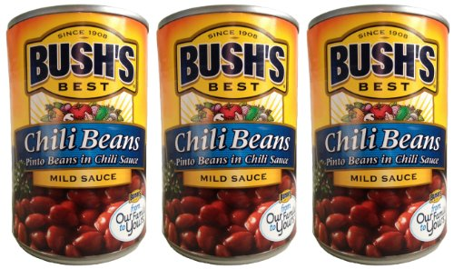 Bush's Best Chili Beans-- pinto beans in mild chili sauce