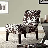 Cheap Home Creek Cow Hide Print Lounge Chair