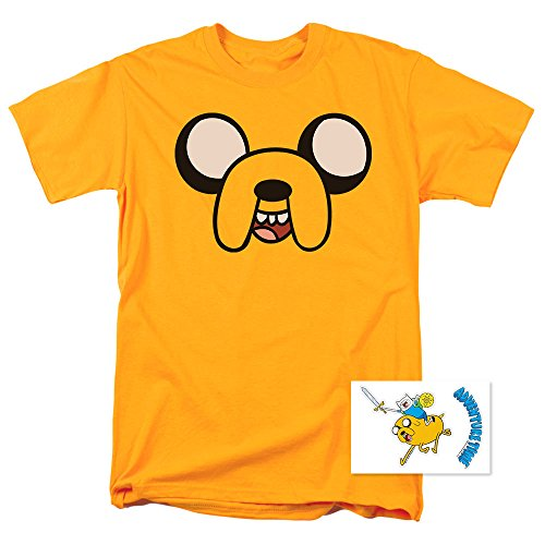 Adventure Time Jake The Dog Cartoon Network T Shirt (X-Large) Yellow]()