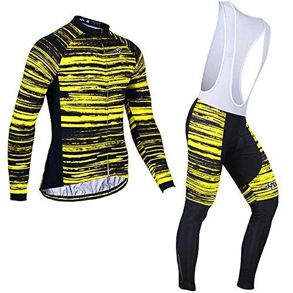Homme Manches Longues Maillot de cyclisme hiver thermique Racing vestes et Cyclisme Pantalon