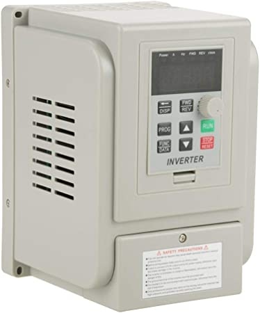 Variable Frequency Drive Single Phase to 3 Phase Ac 220v 1.5kw VFD Inverter Converter Spindle Motor Speed Control