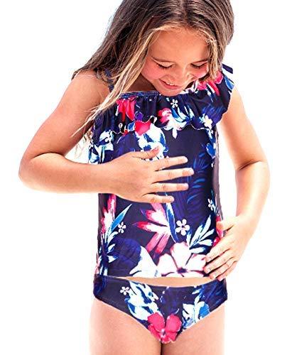 d1d271b06295 iDrawl Girls Two Piece Beach Wear Floral Tankini Swimwear