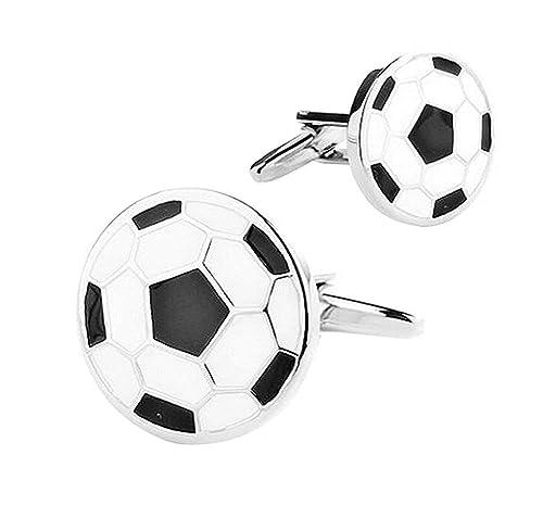 Ogquaton Mancuernas Populares Fútbol Mancuernas Accesorios de Moda ...