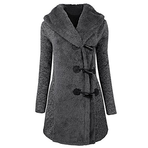 GOVOW Cotton Women Winter Plus Thick Warm Buttons Coat Fashion Overcoat Parka Hoodie Outwear