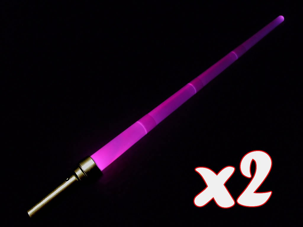 2 x Extending/Retracting Star Wars Style LED Lightsaber/Laser Sword - 36 Colour Changing 8 Function (accesorio de disfraz) Indefinido LS-SWEXT-2