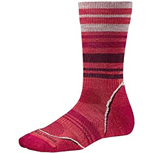 Smartwool Women's PhD Outdoor Light Pattern Crew Socks (Hibiscus) Small - Past Season
