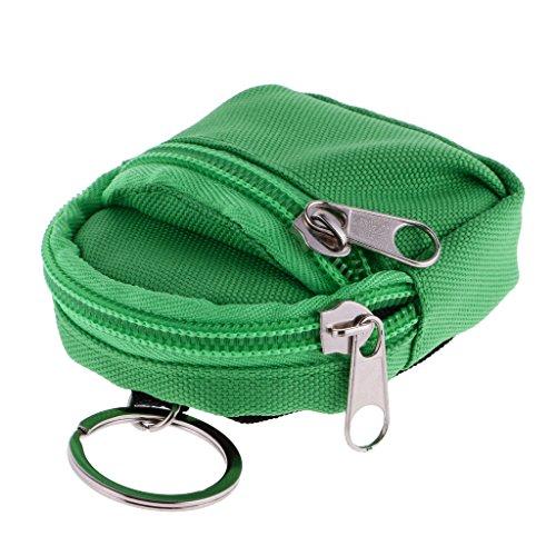 Fenteer Niedlicher Puppentsche Rucksack Schultasche mit Reißverschluss Für 1/6 BJD Puppen - rosa Grün FWA4IUygjI