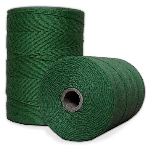 100% Cotton Loom Warp Thread (Green), 8/4 Warp Yarn (800 Yards), Perfect for Weaving: Carpet, Tapestry, Rug, Blanket or Pattern - Warping Thread for Any Loom (Cotton Yarn 8 4 Or 8 8)