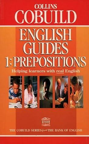 collins cobuild english guides prepositions bk 1 john sinclair rh amazon com