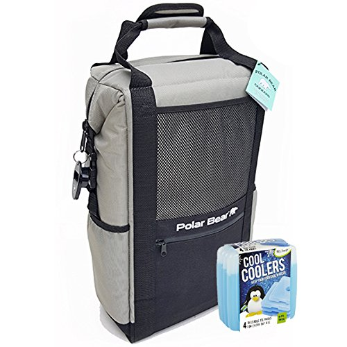- Polar Bear Coolers Nylon Solar Bear Series Backpack Size 18 Pack Silver & Fit & Fresh Cool Coolers Slim Ice 4-Pack (Bundle)