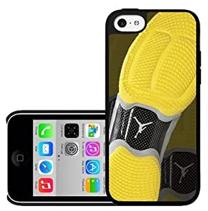 Designer Shoe 10's Yellow and Black Shoe Print Hard Snap on Phone Case (iPhone 5/5s) Designed by HnW Accessories