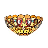 Chloe Lighting CH33353VR12-WS1 Tiffany Style Victorian 1-Light Wall Sconce, 12-Inch, Multicolored