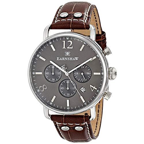 Thomas Earnshaw Men s ES-8001-04 Investigator Analog Display Japanese Quartz Brown Watch