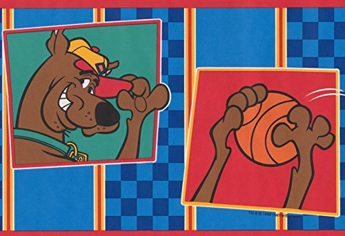 Scooby-Doo Disney Cartoon Wallpaper Border - Blue, Brown, Orange - Kids Baby Room, Roll 15' x 6.75''