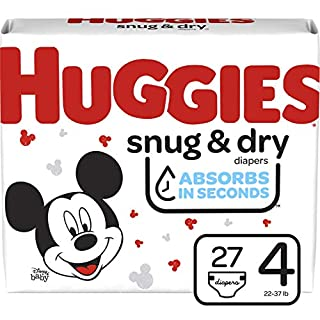 Huggies Snug & Dry Baby Diapers, Size 4, 27 Ct