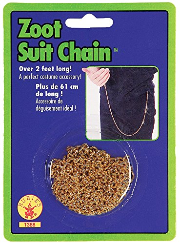 Zoot Suit Gold Chain Halloween Gangster Costume Accessory ()