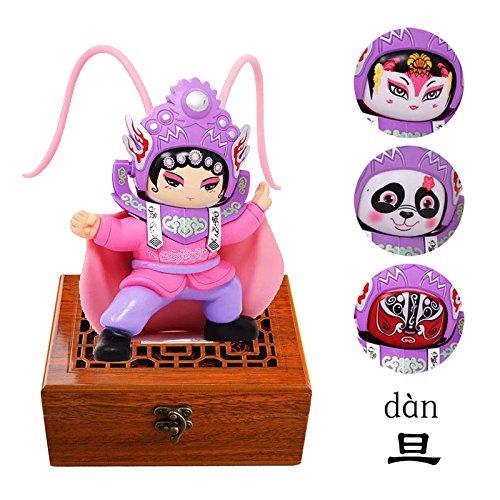 Smart Kingfisher Face Changing Doll Beijing Opera Shichuan Bianlian Chinese Traditional Culture Folk Art Change Face Toy (Chinese Opera Dolls)