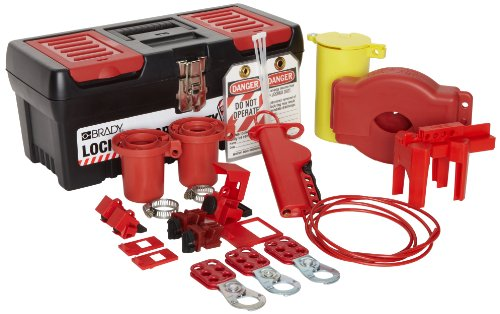 Brady Valve and Electrical Lockout Toolbox Kit, Padlocks Not Included by Brady