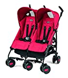 Peg Perego Pliko Mini Twin Baby Stroller - Mod Red