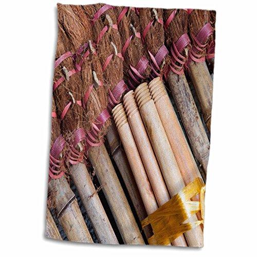 3dRose Danita Delimont – Hong Kong – Asia, China, Hong Kong. Handmade straw dust brooms – AS09 JEG0042 – Julie Eggers – 12×18 Hand Towel (twl_132501_1…