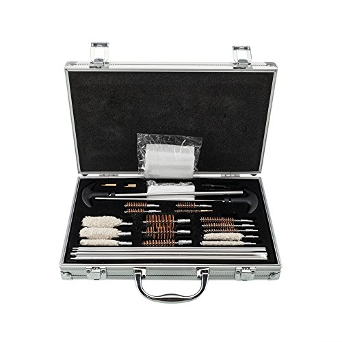 Barrel Cleaning Shotgun (Cosway 126pcs Universal Shotguns Barrel Cleaning Kit for Rifles, Pistols, Handguns with Carrying Case)