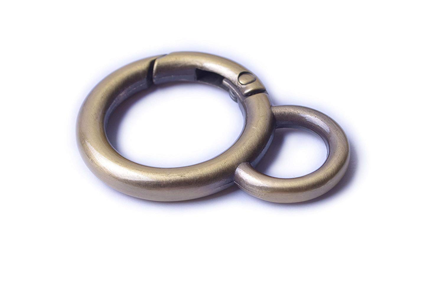 1/'/', Brushed Brass Bobeey 4pcs Rectangular Buckles For purses making,SCREW Rings Buckles Strap Connector Purse Hardware Bag Loop BBC7