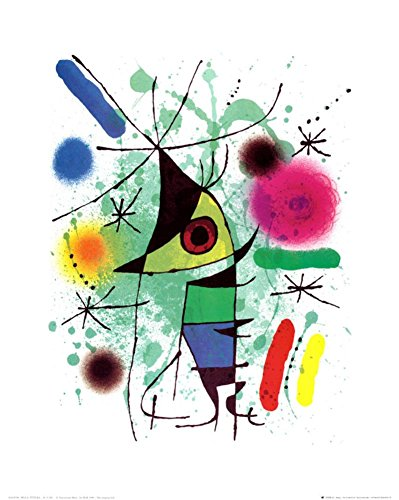 The Singing Fish Art Print by Joan Miró 16 x 20in