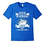 Mens Happiness You Can Go On A Cruise Vacation Caribbean Tee 3XL Royal Blue