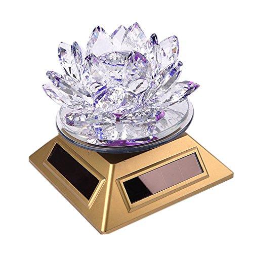 Feng Shui Crystal Lotus Flower Solar Energy Decoration (purple)
