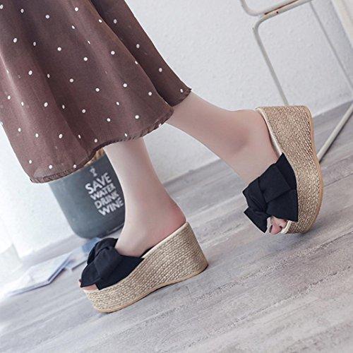 Vestir 40 Sandalias Casual de Sandalias de Mujer Chanclas Baño Chanclas Logobeing Zapatos Fiesta Verano A y 35 Plataforma a0xqC