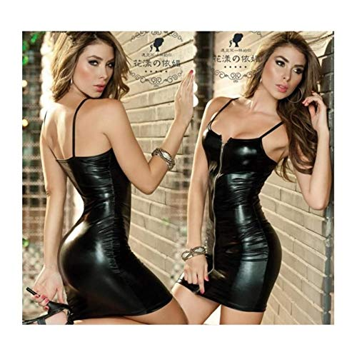 Black Mode sexy serr Jupe cuir en Huyizhi p8BaYq