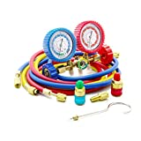 Raomdityat 1PC Diagnostic Manifold Gauge Kit Ideal For R134A, R12, R22, R502 Refrigerants 3FT
