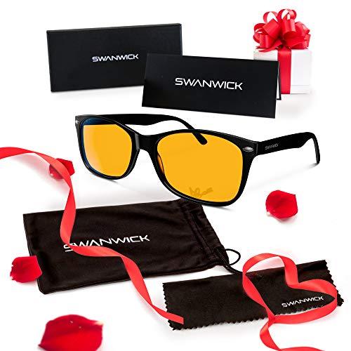 Swannies Blue Light Blocking Glasses - Gamer and Computer Eyewear for Deep Sleep and Digital Eye...