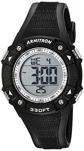 Armitron Sport Women's 45/7081BLK Digital Chronograph Black Resin Strap Watch (Armitron Sports 50)