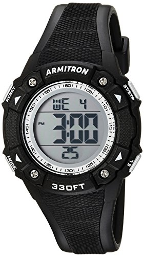 Armitron Sport Women's 45/7081BLK Digital Chronograph Black Resin Strap Watch