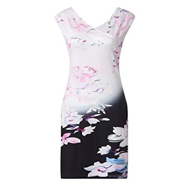 61f4bec4048 TEBAISE Printemps-été vêtements personnalisés Dame Impression sans Manches  Vent bohème Jeune Dynamique Tenue décontractée