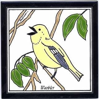 product image for Warbler Tile, Warbler Wall Plaque, Warbler Trivet