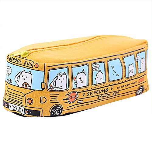 Naovio Creative Multi-functional Zipper Bus Pencil Case, Large Capacity Pencil Bag, Portable Key Coin Purse, Makeup Cosmetic Bag