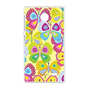 Colorful Cartoon Butterfly Phone Case for Nokia Lumia X