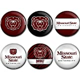 WinCraft Missouri State Bears Official NCAA Metal Button Badge Pin Set 6 Pack 991225