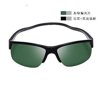 LMHMJYJ Gafas de Sol para Pesca Gafas de Sol polarizadas para Pesca, Grey Green Polarized
