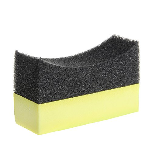 Itlovely Car Professional Tyre Tire Dressing Applicator Curved Foam Sponge Pad ()