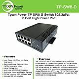 Tycon Power TP-SW8-D 802.3af/at 8 Port High Power POE 10/100BASET switch