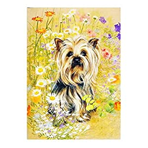 BAOBLADE DIY 5D Round Resin Rhinestone Embroidery Cross Stitch Hand Crafts Painting Arts Picthure - Dog, as Described