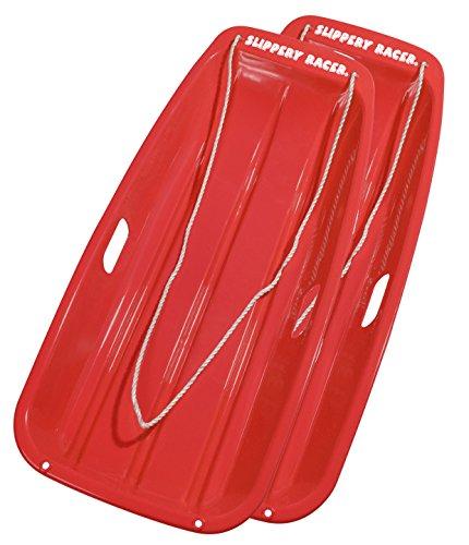 Slippery Racer Downhill Sprinter Snow Sled (2 Pack), Red