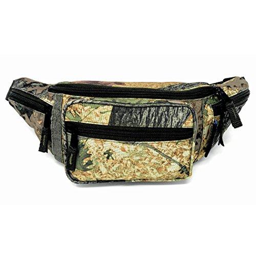 Fanny Pack Camo Patterns, Water Resistant Waist Bag, Hiking Bag Pack for Men, Multipocket (Black Oak Fanny Pack)
