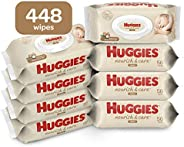 Huggies Nourish & Care Baby Wipes, Sensitive Skincare, Sce