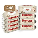 Huggies Nourish & Care Baby Wipes, Sensitive Skincare, Scented, Water-Based, 8 Flip-Top Packs, 56 Ct (448 Total Wipes)