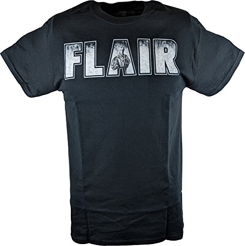 RIC Flair Dirtiest Player in The Game WWE Mens Black T-Shirt-S by Freeze