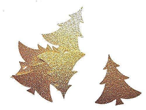 Weihnachtsbaum Konfetti Gold Glitter Tischdekoration Tannenbaum Scrapbooking